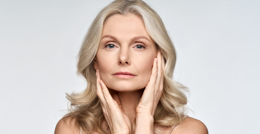 Middle Aged Woman After Skincare